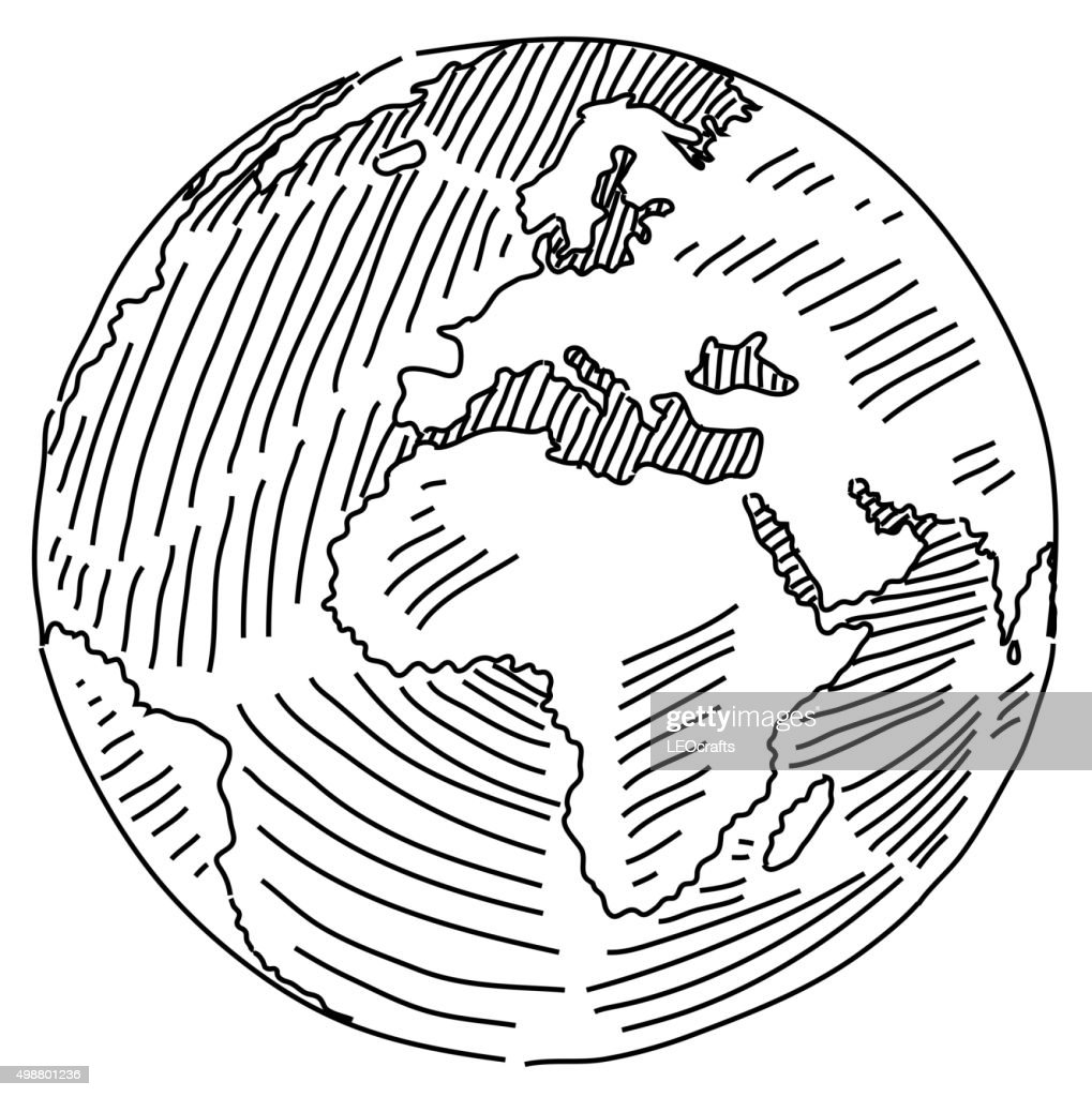 World map drawing vector art getty images world map drawing vector art gumiabroncs Images