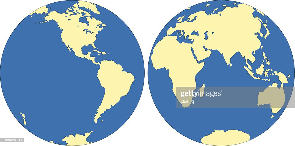 World map east and west hemisphere in vector format vector art world map east and west hemisphere in vector format vector art gumiabroncs Image collections