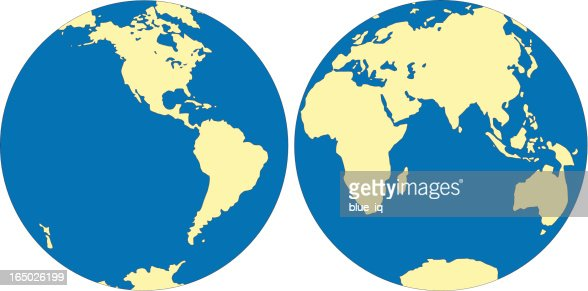 World map east and west hemisphere in vector format vector art world map east and west hemisphere in vector format vector art getty images gumiabroncs Gallery