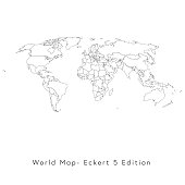 World Map Eckert 5 edition