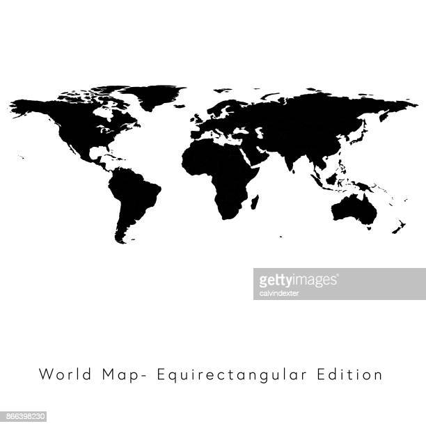 Carte du monde équirectangulaire Edition
