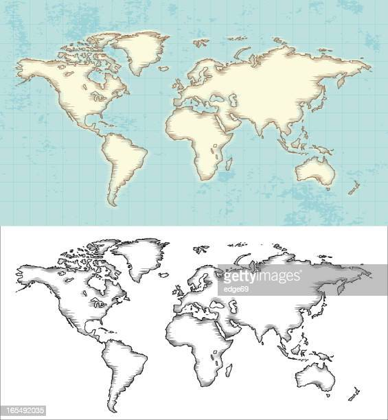 世界地図のエッチング - エッチング点のイラスト素材/クリップアート素材/マンガ素材/アイコン素材