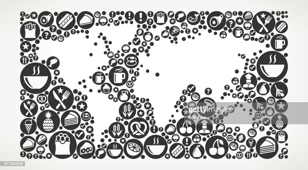 World map food black and white icon background vector art getty images world map food black and white icon background vector art gumiabroncs Gallery
