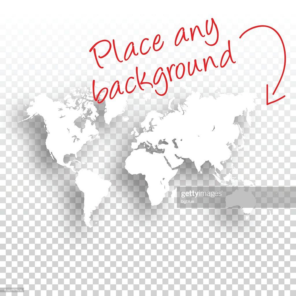 World Map for design - Blank Background