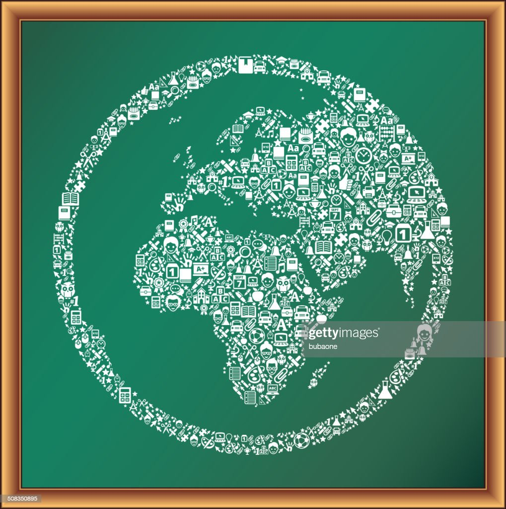 World map globe educational royalty free vector art blackboard world map globe educational royalty free vector art blackboard vector art gumiabroncs Gallery
