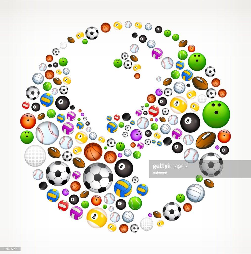 world map globe on sport balls vector art