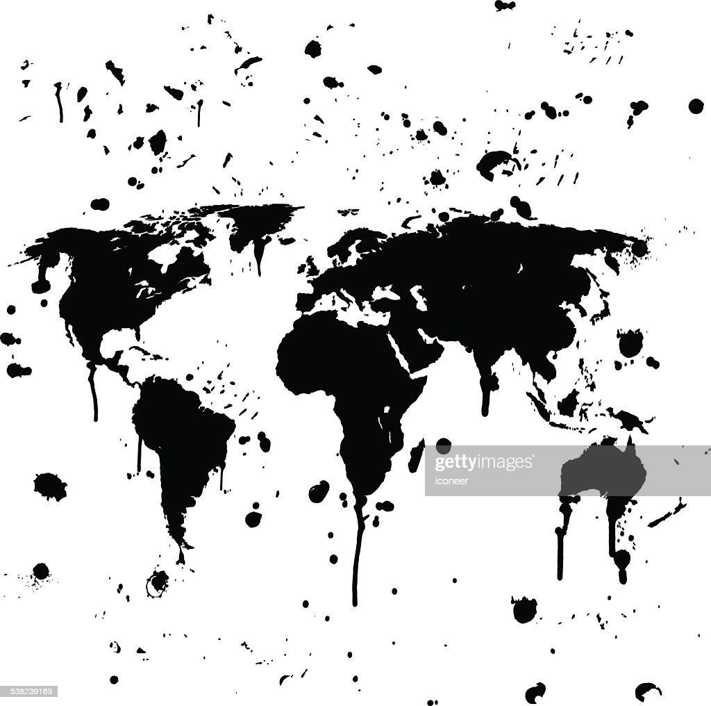 World map graffiti black splats on white background vector art world map graffiti black splats on white background vector art gumiabroncs Gallery