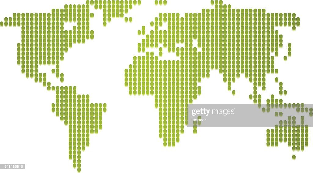 World map green made of dots vector art getty images world map green made of dots vector art gumiabroncs Choice Image