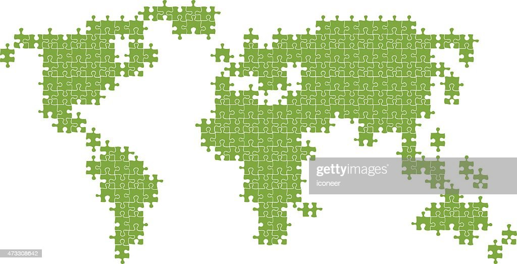 World map green made of puzzle parts vector art getty images world map green made of puzzle parts vector art gumiabroncs Gallery