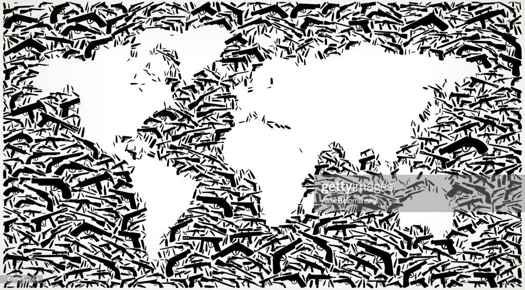 World map gun black icon pattern background vector art getty images world map gun black icon pattern background vector art gumiabroncs Image collections