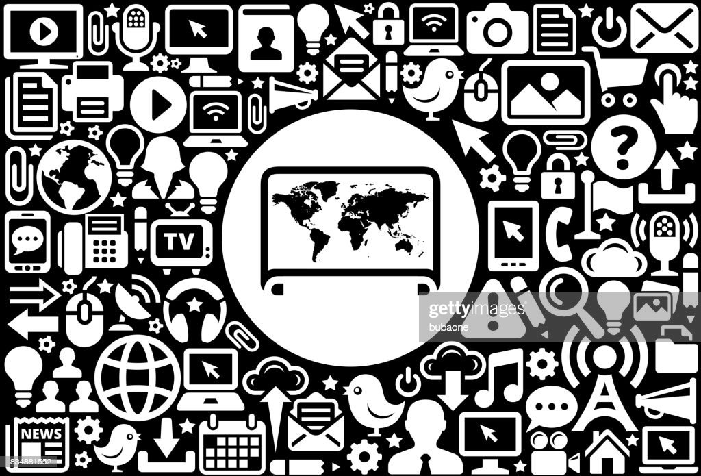 World map icon black and white internet technology background vector world map icon black and white internet technology background vector art gumiabroncs Gallery