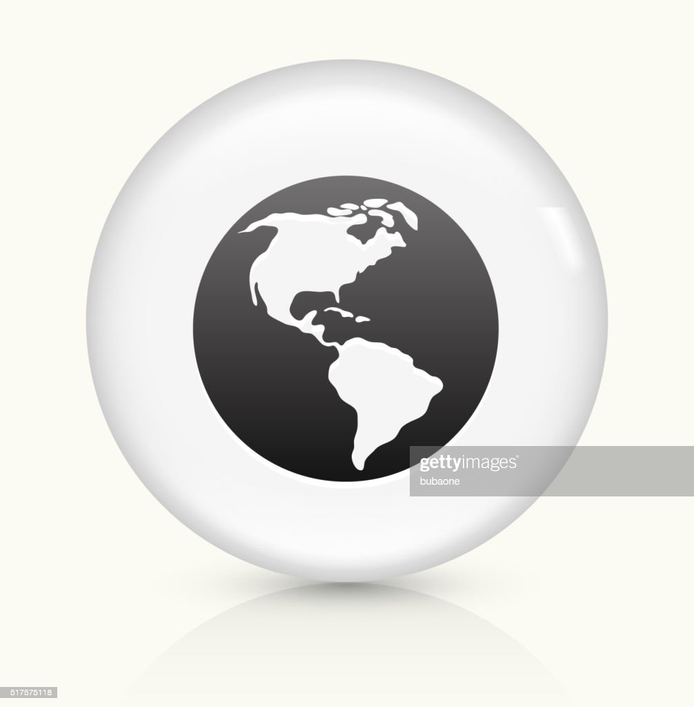 World map icon on white round vector button vector art getty images world map icon on white round vector button vector art gumiabroncs Choice Image