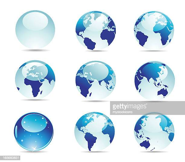 world map icon - pacific ocean stock illustrations, clip art, cartoons, & icons