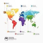 world map illustration infographics geometric concept design