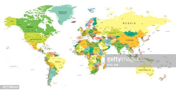 Gallo images gallo images 522786444 colored world map with colored world map with country names gumiabroncs Images
