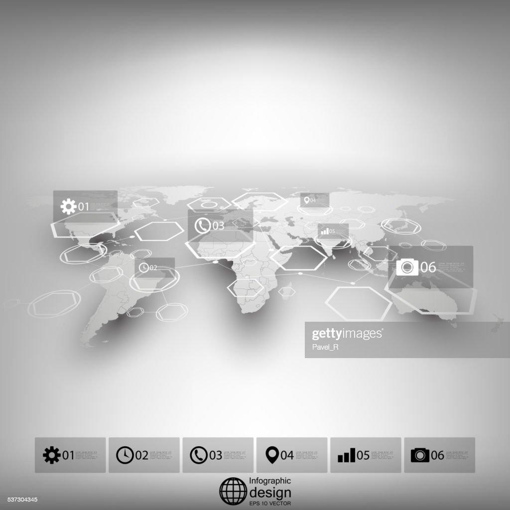 World map in perspective blurred infographic vector template for world map in perspective blurred infographic vector template for business vector art gumiabroncs Images