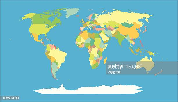 world map - individual countries of the globe - world politics stock illustrations