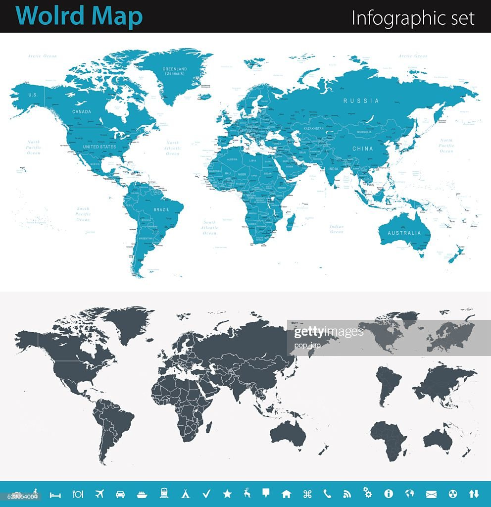 World map infographic set vector art getty images world map infographic set vector art gumiabroncs Choice Image