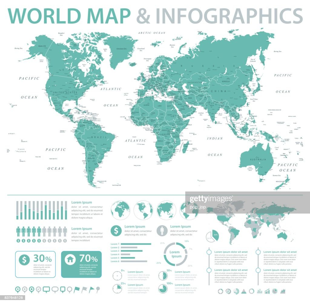 World map infographics detailed vector illustration vector art world map infographics detailed vector illustration vector art gumiabroncs Choice Image