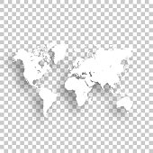 World Map isolated on blank background