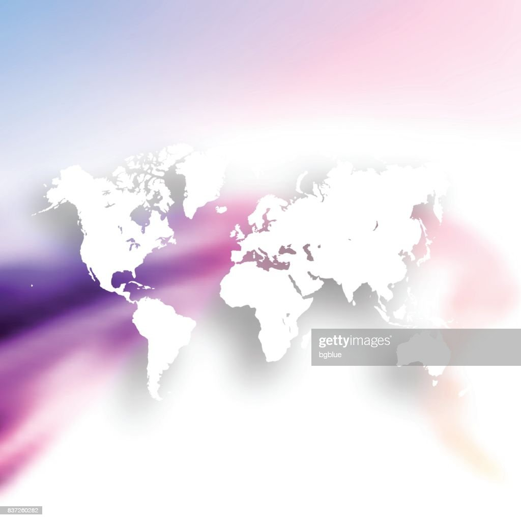 World map isolated on colorful abstract background vector art world map isolated on colorful abstract background vector art gumiabroncs Choice Image