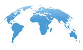 World Map Isolated on White Background. Vector Illustration