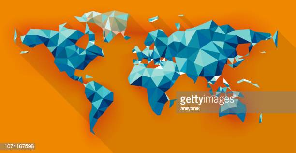 world map low poly