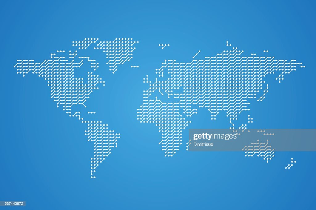 World map made from dots and lines digital world concept vector art world map made from dots and lines digital world concept vector art gumiabroncs Choice Image