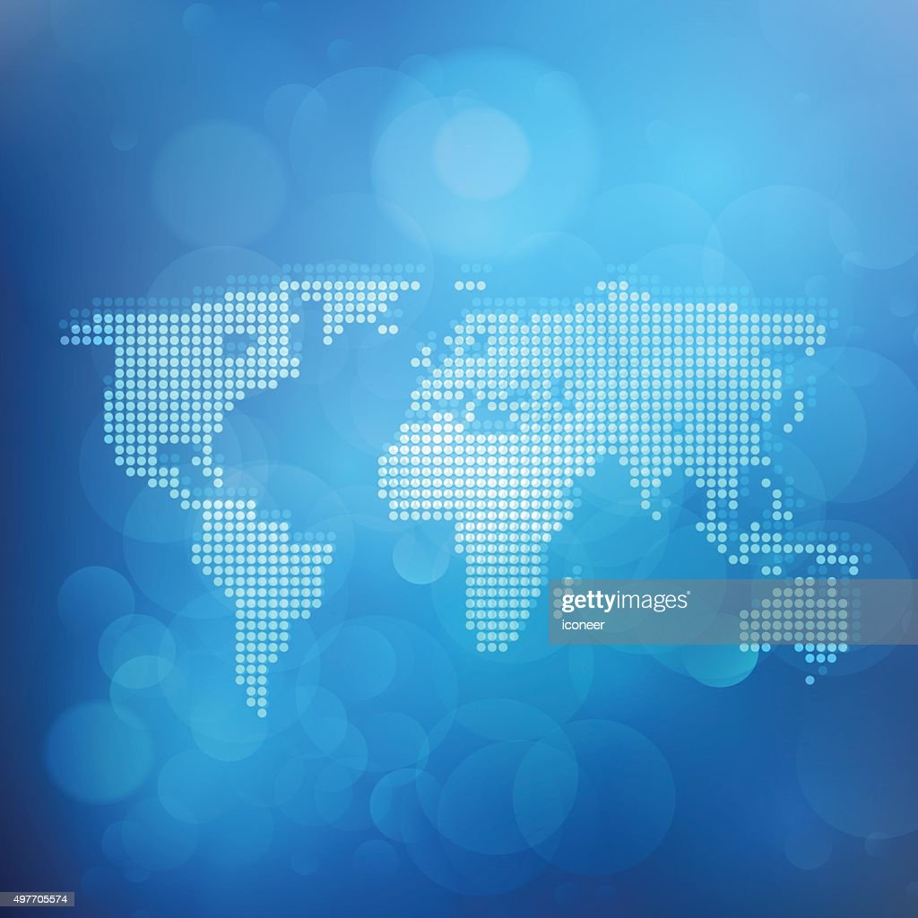 World map made of dots on blue bubble background vector art getty world map made of dots on blue bubble background vector art gumiabroncs Image collections