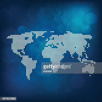 World map blue made of dots vector art getty images keywords gumiabroncs Choice Image