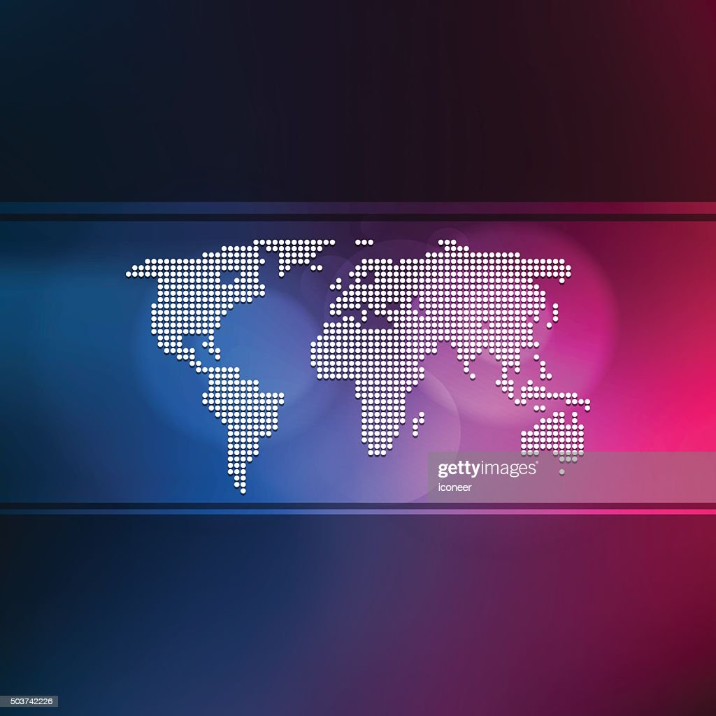 World map made of dots on multicolor banner background vector art world map made of dots on multicolor banner background vector art gumiabroncs Choice Image
