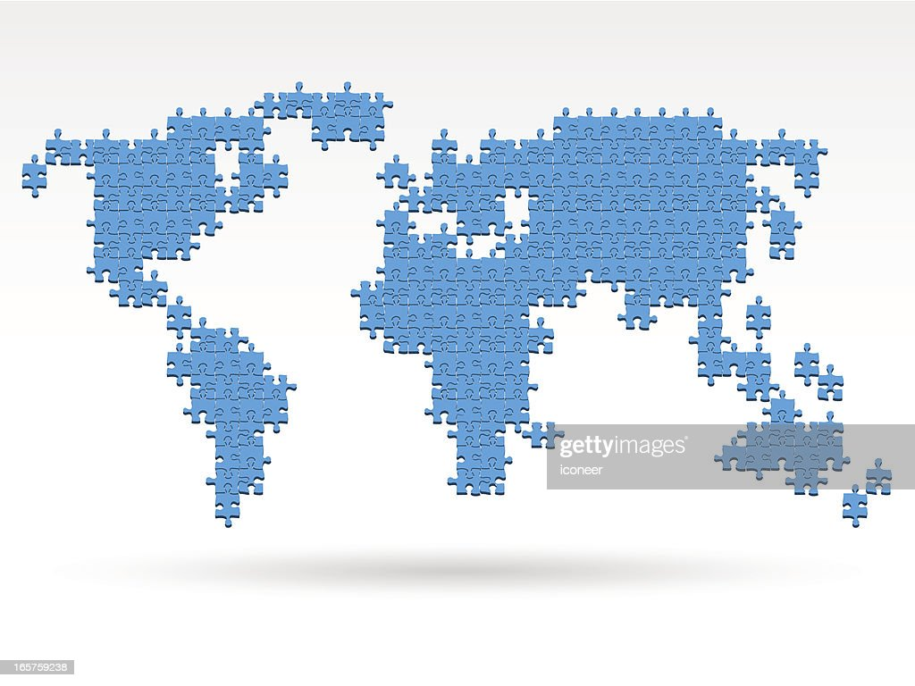 World map made of puzzle vector art getty images world map made of puzzle vector art gumiabroncs Choice Image