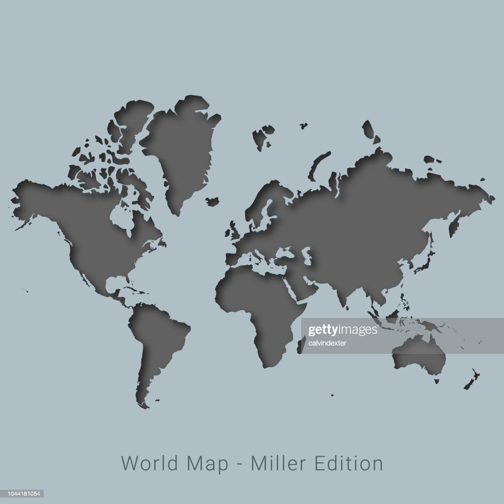World map miller edition vector art getty images world map miller edition vector art gumiabroncs Image collections