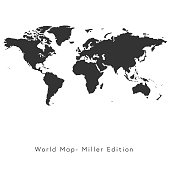 World map Miller Edition
