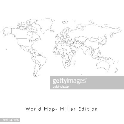 World map miller edition vector art getty images gumiabroncs Gallery