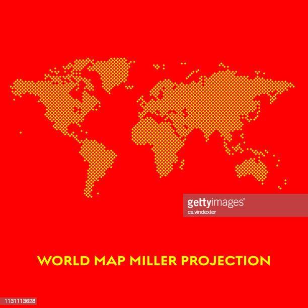世界地図ミラープロジェクション - 国境点のイラスト素材/クリップアート素材/マンガ素材/アイコン素材