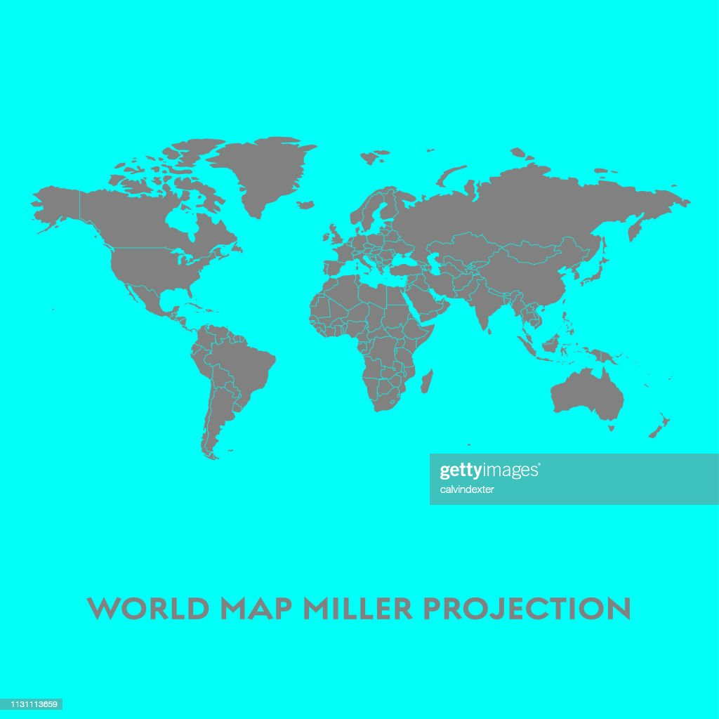 World Map Miller Projection stock illustration - Getty Images on model of map, set of map, photography of map, drawing of map, map of map, animation of map, texture of map, element of map, depression of map, shape of map, scale of map, type of map, view of map, orientation of map,