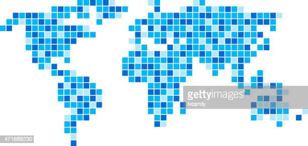 World map mosaic