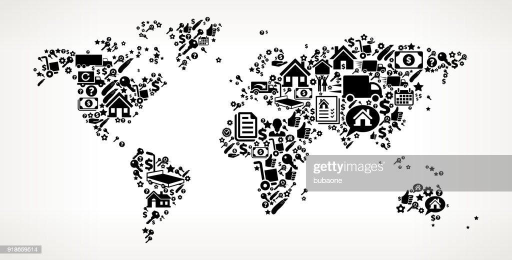 World map moving and relocation vector icon pattern vector art world map moving and relocation vector icon pattern vector art gumiabroncs Images