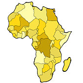 World map of Africa continent. vector illustration