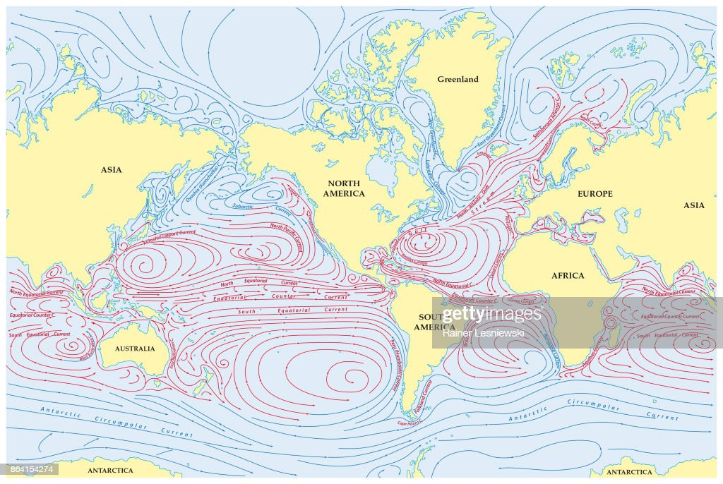 World map of all sea currents