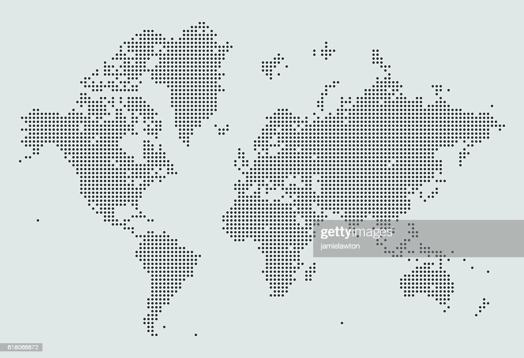 World Map of Dots