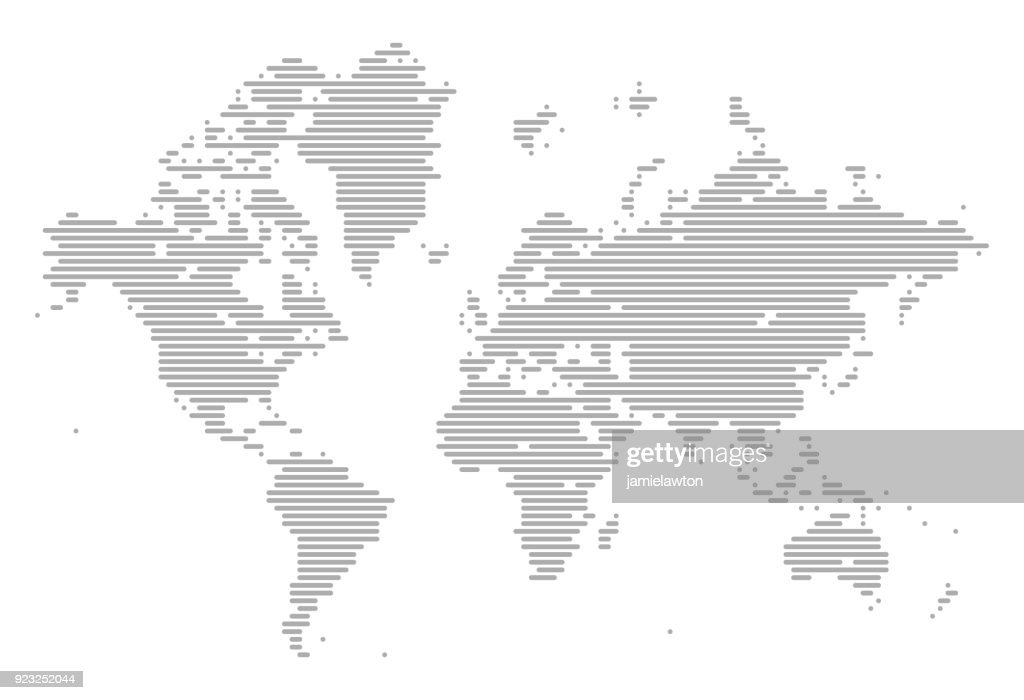 World map of lines vector art getty images world map of lines vector art gumiabroncs Image collections