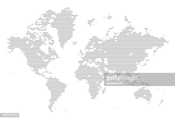 World Map of Lines