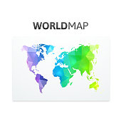 World map of rainbow color