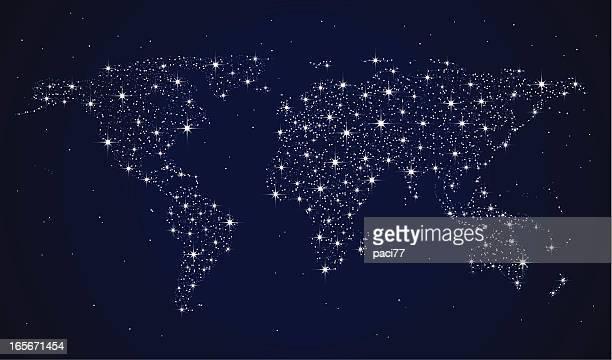 Weltkarte von Stars
