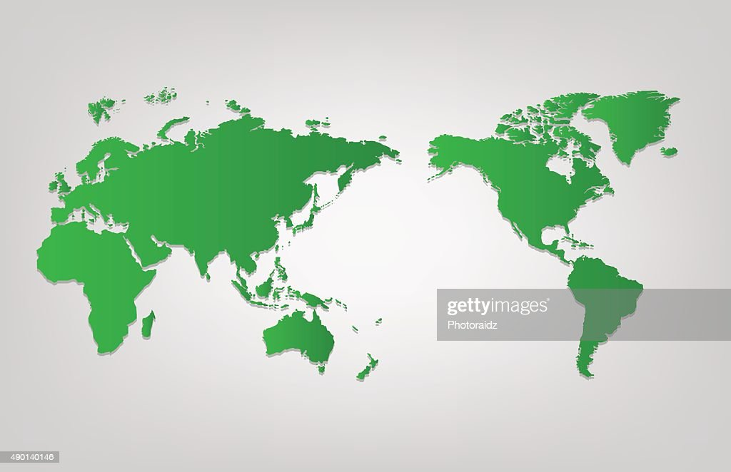 World map of vector, vector illustration