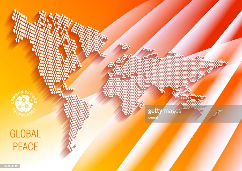 Weltkarte auf abstrakten Hintergrund. : Stock-Illustration