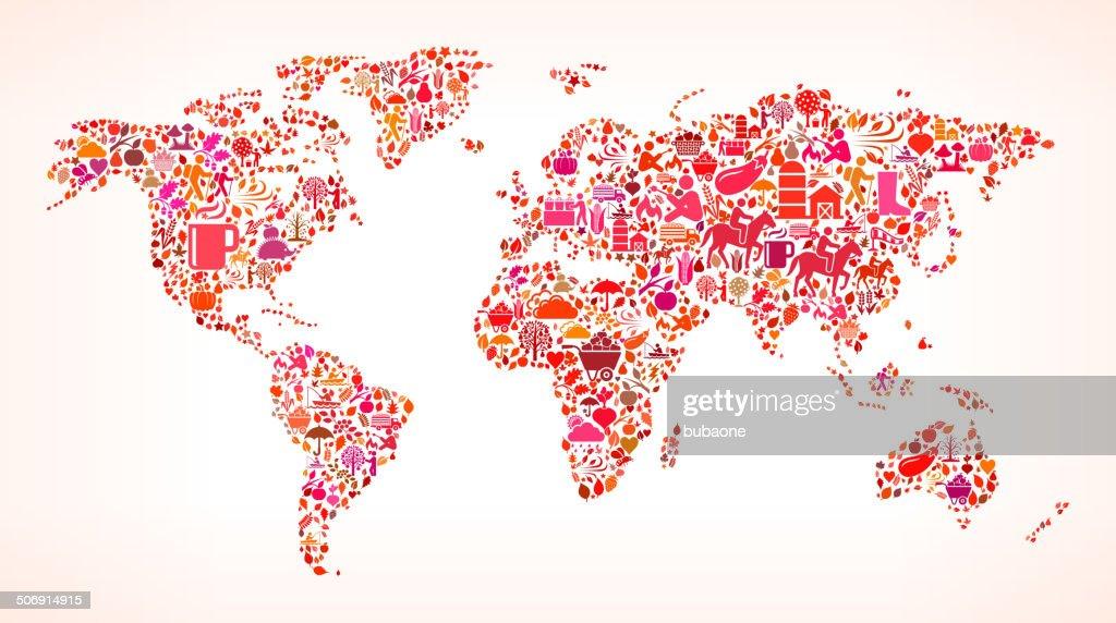 World map on autumn royalty free vector art pattern vector art world map on autumn royalty free vector art pattern vector art gumiabroncs Choice Image