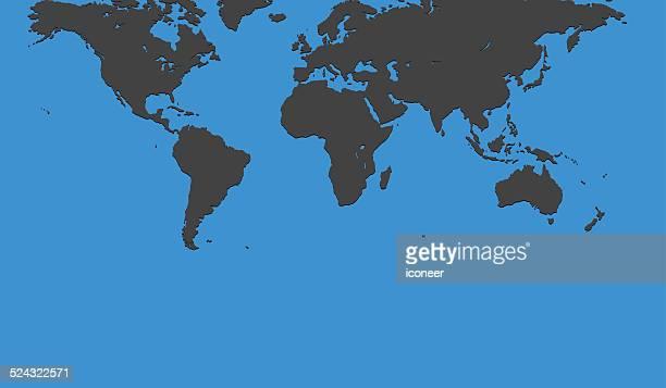 Welt Karte auf blauem Hintergrund